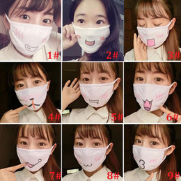 Wholesale Face Masque - Kawaii Anti Dust Mask Kpop Cotton Mouth Mask Cute Anime Cartoon Mouth Muffle Face Mask Emotiction Masque Kpop Winer Warm Masks Gift ZA1490