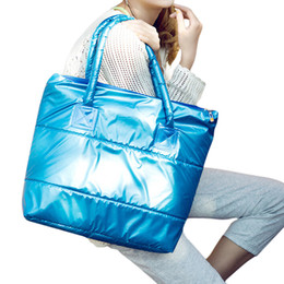 Wholesale Winter Cotton Tote Handbag - Wholesale-TOYL winter Women's shoulder Bags ladies Messenger bag fashion handbag designer school bag