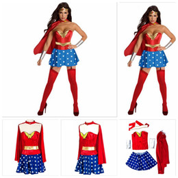 Wholesale Adult Indian Costumes - Halloween Costumes For Women Wonder Woman Costume Adult Sexy Dress Cartoon Character Costumes Clothing Halloween Costumes For Women YYA151