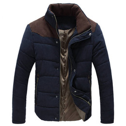 Parkas invierno hombre онлайн-Wholesale- Warm Winter Jackets for Men Wadded Parkas Campera Hombre Invierno 2016 Autumn Slim Fit Men's Cotton-padded Jacket Coat