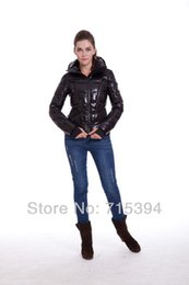 Wholesale Long Goose Coats For Women - New Wholesale Luxury top quality Down Jacket For Women Black Fashion Coat Outerwear Goose Dress Lady Parka my002