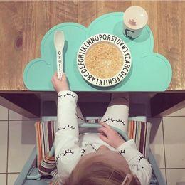 Wholesale Children Kitchen Accessories - Wholesale-CHICO 2016 Kitchen Accessories Silicone cloud Placemat Heat Resistant Mat 48*27cm with 5 color Children Dinnerware table mat