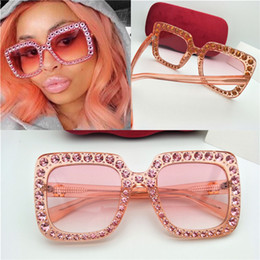 Wholesale New brand sunglasses G mosaic luxury diamonds design fashion sunglasses large square frame small legs popular protection sunglasses