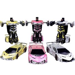 Wholesale Remote Controlled Robot For Kids - RC Cars Remote Control Toys Morphing Robot for Boys Girls 3 Colors Autobots Children's Day Gift New