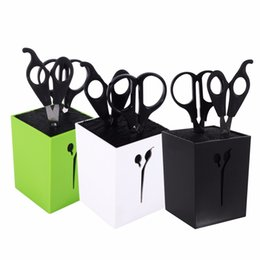 Wholesale Comb Clamp - Styling Tools Hair Rollers New 3Colors Hairdressing Haircut Combs Clamps Scissors Holder Stand Socket Tool tool tool