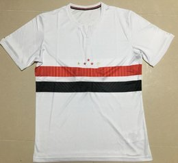 Wholesale Fc Top - ^_^ Wholesale 17 18 Sao Paulo FC home away soccer jersey custom name number Top thai AAA quality soccer uniform football jersey clothing