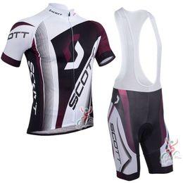 Wholesale Mens Cycling Jersey Shorts - 2017 Pro Scott Cycling jerseys bike clothes Bicycle Clothing Mens short sleeves Bib Shorts Set mtb maillot ropa ciclismo C0226
