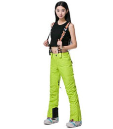 Wholesale Overall Ski - New fashion Hot selling Cheap Straps ski pants Ms pure color ski pants Single and double plate wind warm overalls