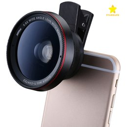 Wholesale Professional Iphone - HD Camera Lens 2 in1 Professional 0.6X Super Wide Angle Lens 15X Macro Lens Universal Clip-On Cell Phone Len for iPhone Samsung