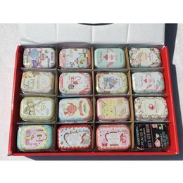 Wholesale Rectangle Wedding Rings - 32 Pieces lot Teapot Design Small Handbag Jewelry Storage Case Decorative Tin Box With Lids Candy Earphone Ring Wedding Gifts Boxes 16colors