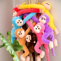 Wholesale 11 Year Cute Baby - 1 PC Cute Monkey Soft Toys Animal Doll Baby Kids Children Birthday Christmas Gift Multicolored