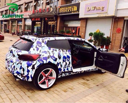 Wholesale Camo Vinyl Wrap Roll - Car Styling Wrap Graffiti camo Car Vinyl film Body Sticker Car Wrap With Air Free Bubble For Vehiche Motorcycle 1.52*20M  Roll KF-F1072