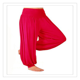Wholesale High Quality Belly Dance - Outdoor Yoga Pants High Quality Womens Modal Cotton Lady Soft Yoga Sports Dance Harem Pants Belly Dance Yaga Wide Pants Trousers