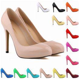 Wholesale Womens Size 13 Heels - Chaussure Femme Hi-Q 13 Colors Womens High Heels Pointed Corset Style Pumps Work Women Shoes US Size 4-11 D0033