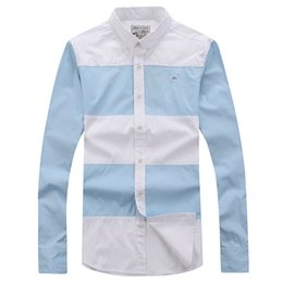 Wholesale China Made Shirts - Wholesale- Eden Park Hot Sel Made In China Long Sleeve Shirt For Men Regular Turn-Down High Quality Casual Style M L XL XXL Free Shipping