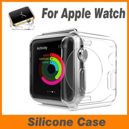Wholesale Transparent Watch Silicone - 38mm 42mm Ultra Thin Slim Transparent Crystal Clear Soft TPU Shockproof Rubber Silicone Cover Case Skin For Apple Watch iWatch Series 1 2 3