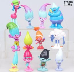 Wholesale Toy Dolls Brinquedos - 12 pcs   set Trolls Ugly Princess Babies PVC Figures blancpie cakes decorations dolls children toys gifts Brinquedos