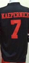 Wholesale Kaepernick Jersey Xxl - Men's Game Jersey 28 Carlos Hyde 53 NaVorro Bowman 35 Eric Reid 16 Joe Montana 80 Jerry Rice 42 LOTT 7 Colin KAEPERNICK Black Red White