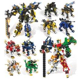 Hsanhe mutil-изменение серии 4 в 1 боевые робот блоки набор лев корова космическая звезда робот кирпичи для детей лучший подарок supplier fight set от Поставщики бой множество