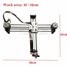 Wholesale Cnc Stepper Drive - DIY Smart Writing Drawing Robot Mini XY 2 Axis CNC Pen Plotter Machine Advanced Toy Stepper Motor Drive Inkscape 32x22cm