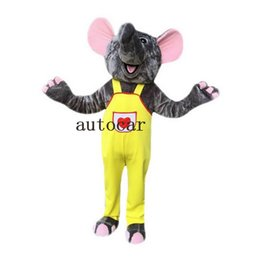 Wholesale Adult Mascot Costume Elephant - Gray Elephant Mascot Costume mascot costumes for adults christmas Halloween Outfit Fancy Dress Suit Free Shipping
