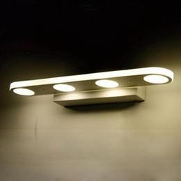 Wholesale Headlight Switch Knob - Hot-selling led iron alloy round hole fashion 12W 18W home bathroom mirror mirror headlights Wall Lamps