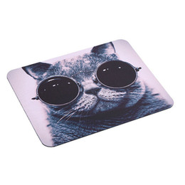 Wholesale black cat picture - 2016 HOT Selling Cat Picture Anti-Slip Laptop PC Mice Pad Mat Mousepad For Optical Laser Mouse Promotion!