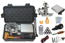 Wholesale Tattoo Equipment Complete Kit - Wholesale-2014 Kit Tattoo Complete Machine with Best Quality Permanent Makeup Machine For Tattoo Equipment Cheap Gray Tattoo Machines