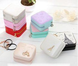 Wholesale Square Cosmetic Containers - Jewelry Packaging Box Casket Box For Exquisite Makeup Case Cosmetics Beauty Organizer Container Boxes Graduation Birthday Gift