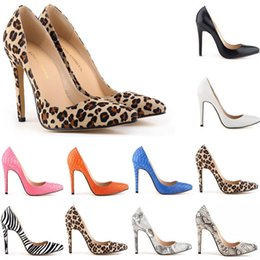 Wholesale Teal High Heel Pumps - Sapatos Feminino Womens Sexy Evening Party High Heels Stilettos Shoes Snake Skin Leopard Pumps US Size 4-11 Women Shoes D0071