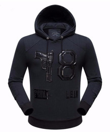 Wholesale Men S Winter Leather - Wholesale-New arrival top quality cotton leather letter hooded casual brand men hoodies luxury male autumn winter fashion sweatshirts 3XL