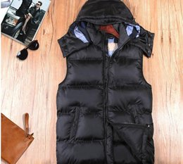 Wholesale Down Vest Xxl - New 2017 Fashion men winter vest jacket, Leisure winter men sport vest ,Cotton men witner warm vest coat M-XXL BU011