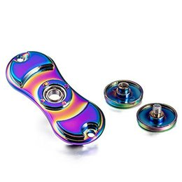 Wholesale Toys Change Shape - Fidget Spinner Metal Material Spins Spinner Stress Reducer Shape Change EDC Focus Toy for Adult Children ADHD