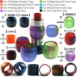 Wholesale Baby Troll - Replacement Epoxy Resin Expansion Tube for Cleito120 SMOK TFV8 Big Baby TFV12 iJust2 Melo III mini Tank The Troll RTA 7ml Atomizer Tubes DHL