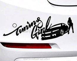 Wholesale Windshield Decal For Girls - Beauty racing girl personalized car stickers modified stickers Need for Speed car stickers Colorful Personalized decals
