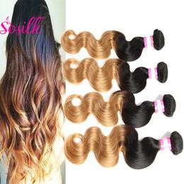 "Wholesale Hair Extension Noble - Peruvian Body Wave Virgin Hair Noble Ombre Hair Weave 4 Bundles Peruvian Remy Braiding Extensions 100 Human Hair Weave Blonde 32"""