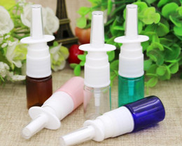 2019 garrafas grossistas de spray de gatilho de plástico O pulverizador plástico vazio transparente da bomba nasal do ANIMAL DE ESTIMAÇÃO engarrafa a garrafa de nariz 5ml da névoa para o perfume