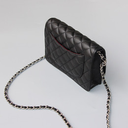 Wholesale American Grade - top grade luxury old silver hardware flap handbag caviar mini flap shoulder bag genuine leather flap bag