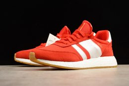 Wholesale Spiked Vintage - Men Womens Retro Iniki Red Blue Runner Really Boost Sneaker Brand Unisex Vintage Running Shoes With Box 36-44