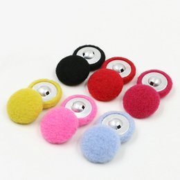 "Wholesale Buttons Sewing Pearls - 200pcs shank Buttons Sewing felt Fabric Covered Round Mix color 15mm( 5 8"")Dia. Clothes Accessories felt button"