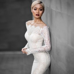 Wholesale Tails Models - 2017 European fashion sets the first words bring long sleeve female elegant tail lace dress evening dress
