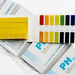 Wholesale Wholesale Ph Strips - Wholesale- 80 Strips Full PH Meter PH Controller 1-14st Indicator Litmus Paper Water Soilsting Kit pH test strips