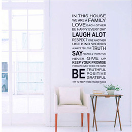 Wholesale Family Wall Quotes Large - we are family Home Decor Love Art Quote Vinyl Decor Removable Wall Stickers Art Home Decals Free shipping