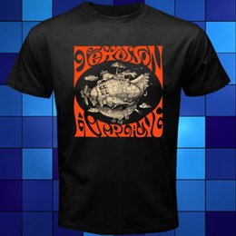 Wholesale Airplane T - New Jefferson Airplane Folk Rock Band Legend Black T-Shirt Size S M L XL 2XL 3XL Letter Printing