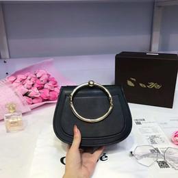 Wholesale Hard Cover Lock - famous brand 2017 Hot Sale Medium Nile Bracelet Ring Circle Hoof Strap Corssbody Flap Bag Nine Colors woman brand bags handbag