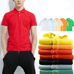 Wholesale Men Famous Shirt - Hot New famous brand crocodile embroidery Polo Shirt Men's Short Sleeve Casual Shirts Man's Solid Polo Shirt Plus 5XL 6XL Camisa Polo shirt