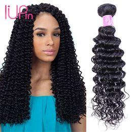 Wholesale Beauty Supply Weave - Wholesale Price Deals Deep Wave 10 Pcs lot Brazilian Hair Bundles Natural Color Deep Wave Malaysian Virgin Human Hair Weaves Beauty Supply