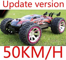 Wholesale Rc Scale Truck - Wholesale- 4WD High Speed 50km H Monster Truck with 2.4GHz Radio Remote Control Charger Included 1 12 Scale Rc car