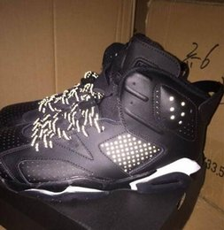 Wholesale high quality cat leather - High Quality 6 6s Black Cat Men Basketball Shoes 3M Reflective Effect 6s Black Cat Athletics Sneakers With Shoes Box