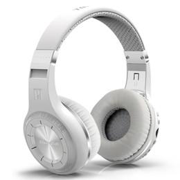 Wholesale Bt Micro - Brand Bluedio H+ Bluetooth headsets Stereo Wireless headphones Mic Micro-SD port FM Radio BT 4.1 Over-ear headphones